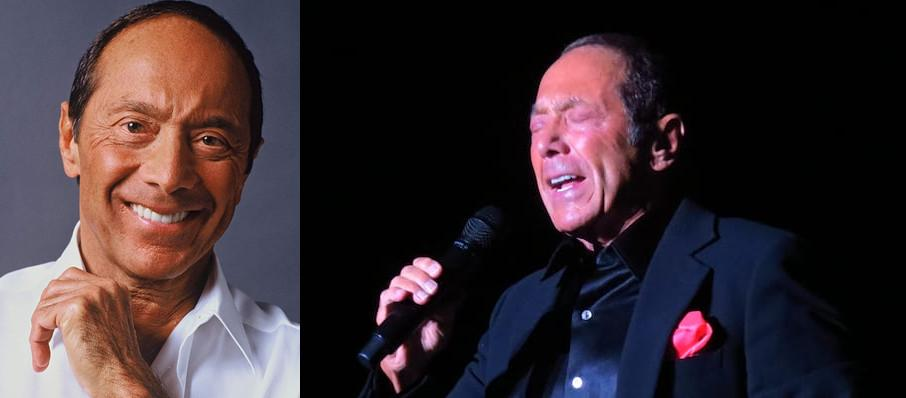 Paul Anka at Hanover Theatre for the Performing Arts