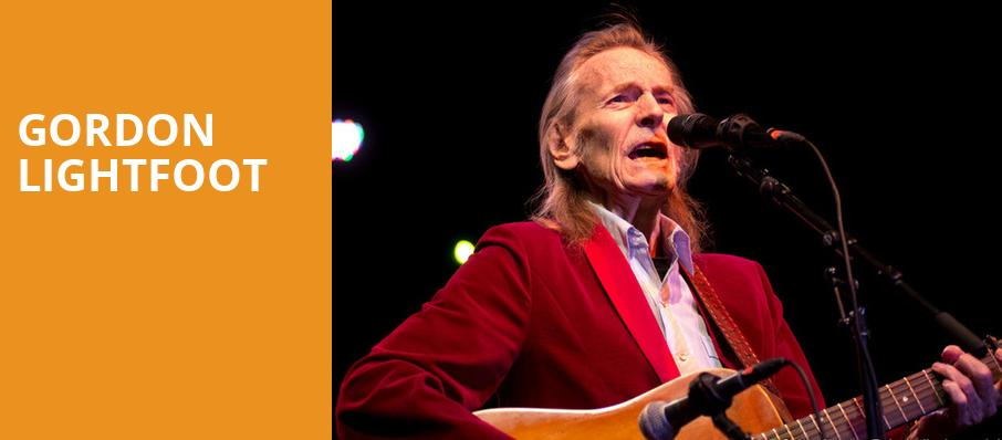 Gordon Lightfoot, Hanover Theatre for the Performing Arts, Worcester